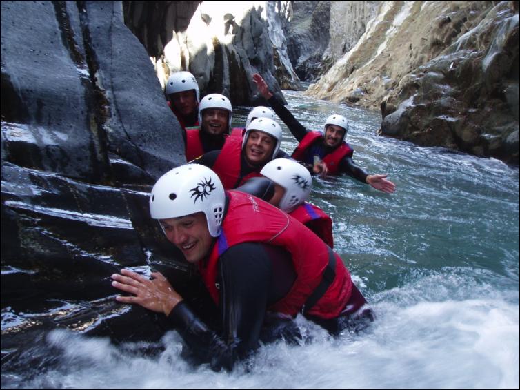 Escursione+river trekk